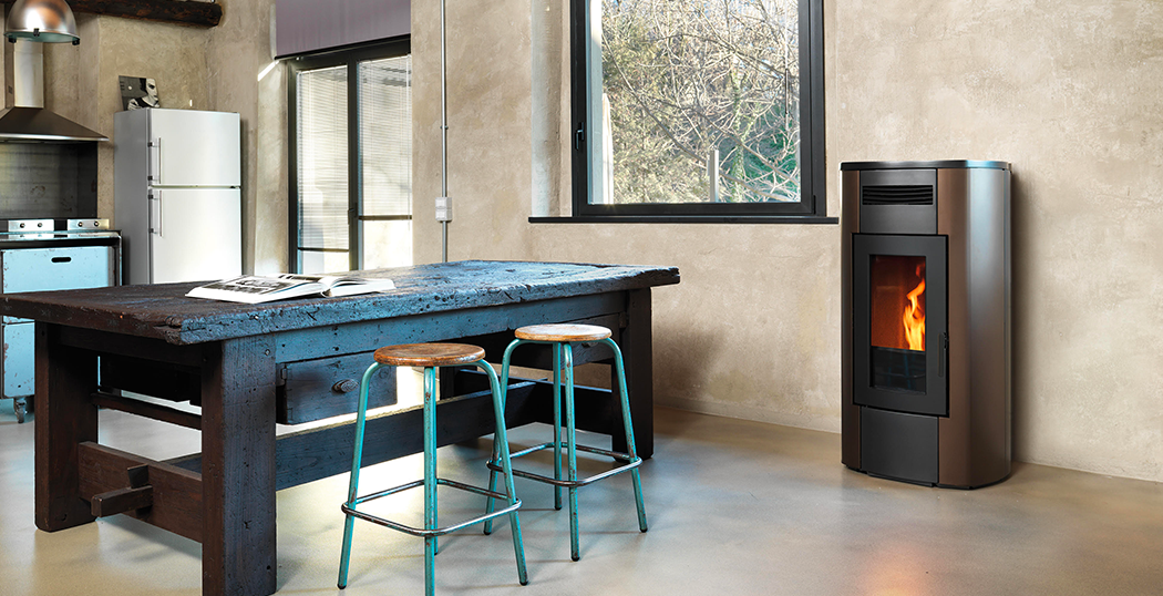Hrv 200 Touch Pellet Stove For Central Heating Ravelli Group